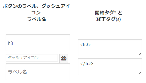 WordPressのAddQuicktagの設定画面