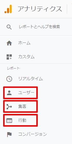 02-Googleアナリティクスでエクスポートできるメニュー