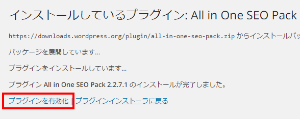 All in One SEO Packを有効化